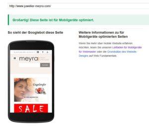 Test auf Responsiveness bei Google